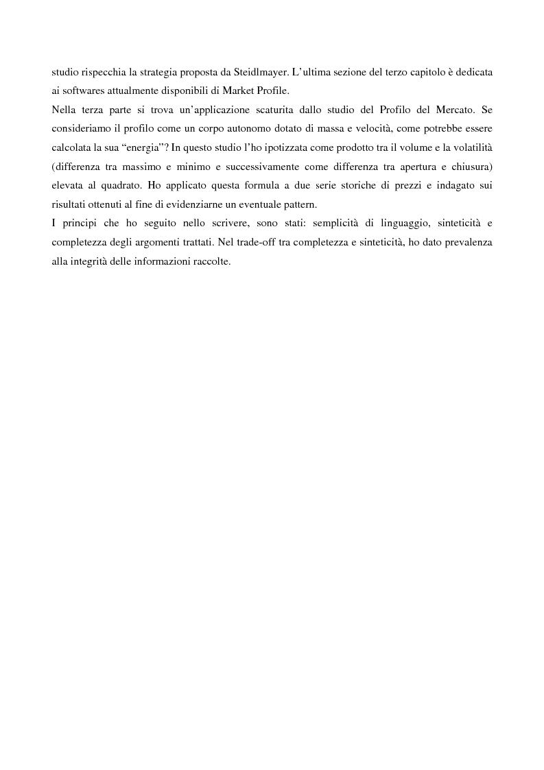 Anteprima della tesi: Market profile: origini, metodo, strategie e software, Pagina 2