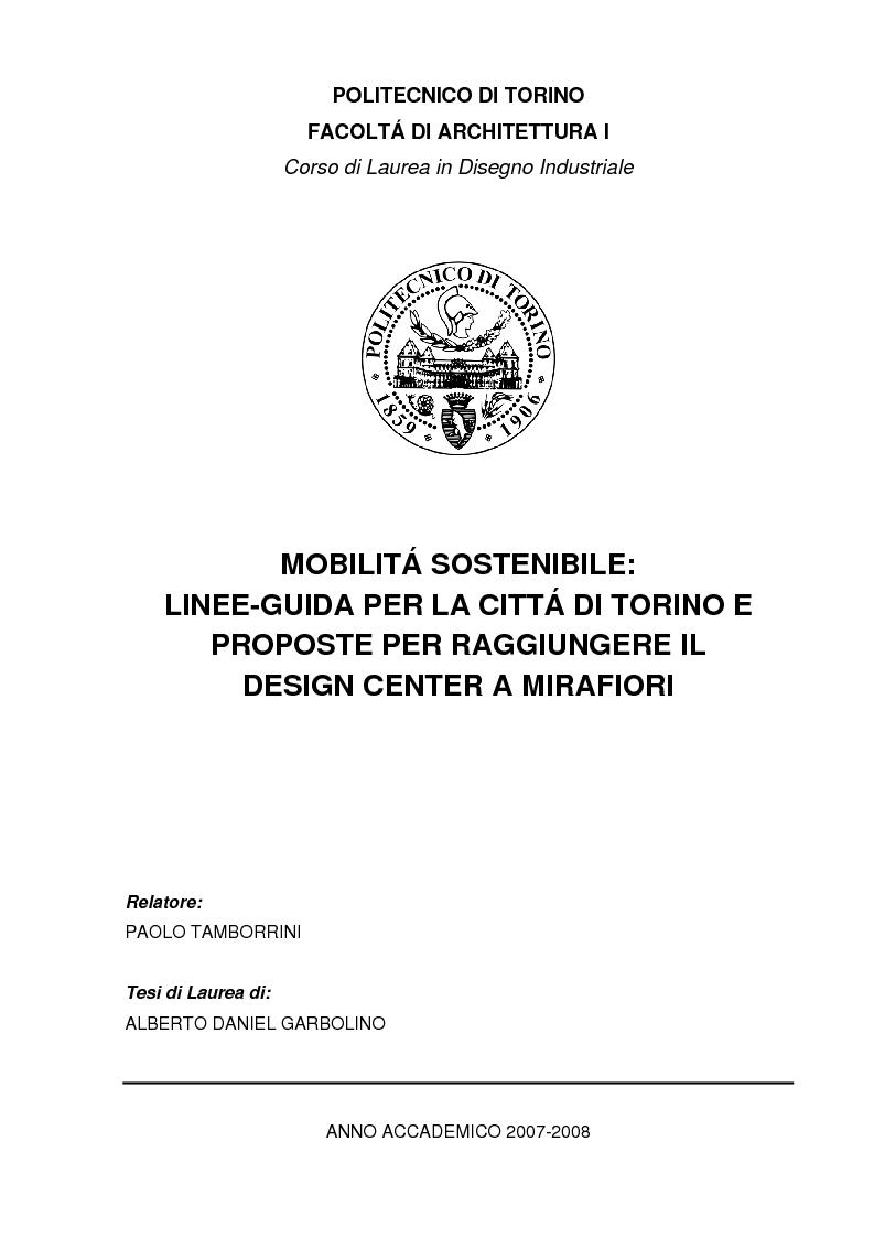 mobilit sostenibile linee guida per la citt di torino e