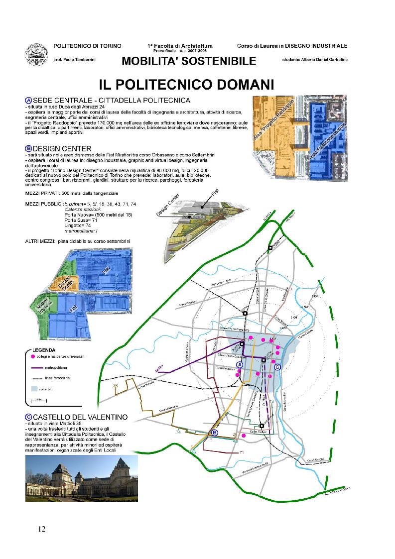 Anteprima della tesi: Mobilità sostenibile: linee-guida per la città di Torino e proposte per raggiungere il Design Center a Mirafiori, Pagina 12
