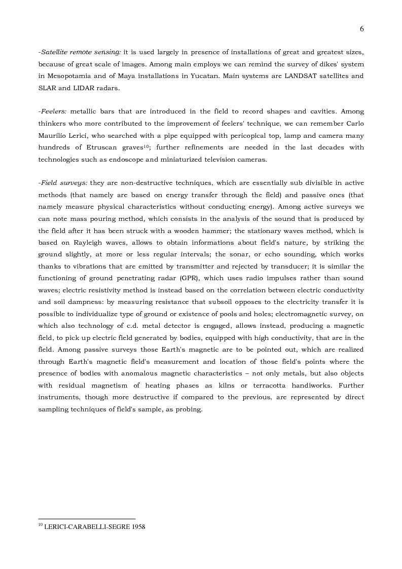 Anteprima della tesi: From Earth to Light, from Archaeological Site to Internet Website - Archaeology and Public between Excavation and Communication, Pagina 3