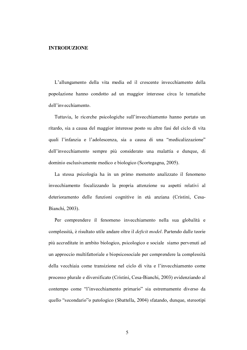 Anteprima della tesi: La psicologia dell'anziano: prospettive interrelazionali, Pagina 1