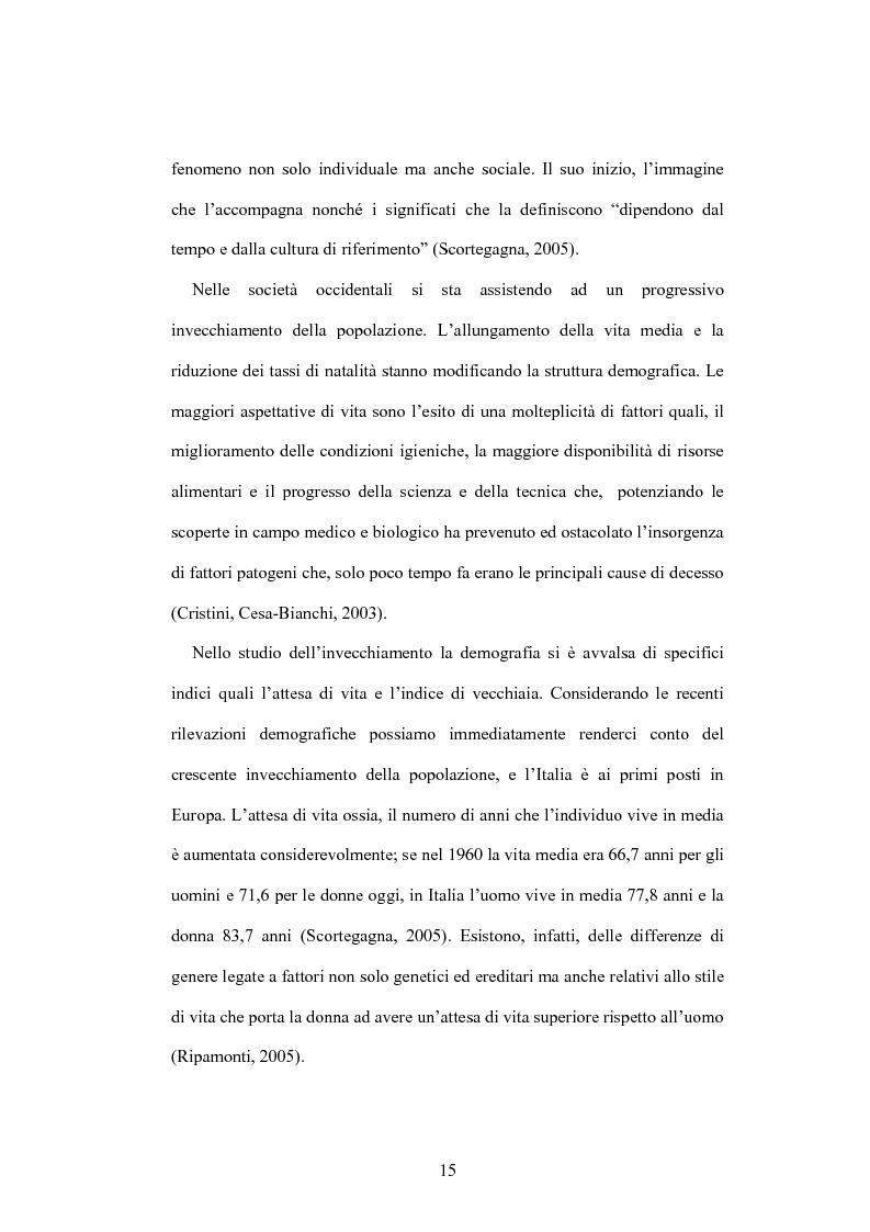 Anteprima della tesi: La psicologia dell'anziano: prospettive interrelazionali, Pagina 11