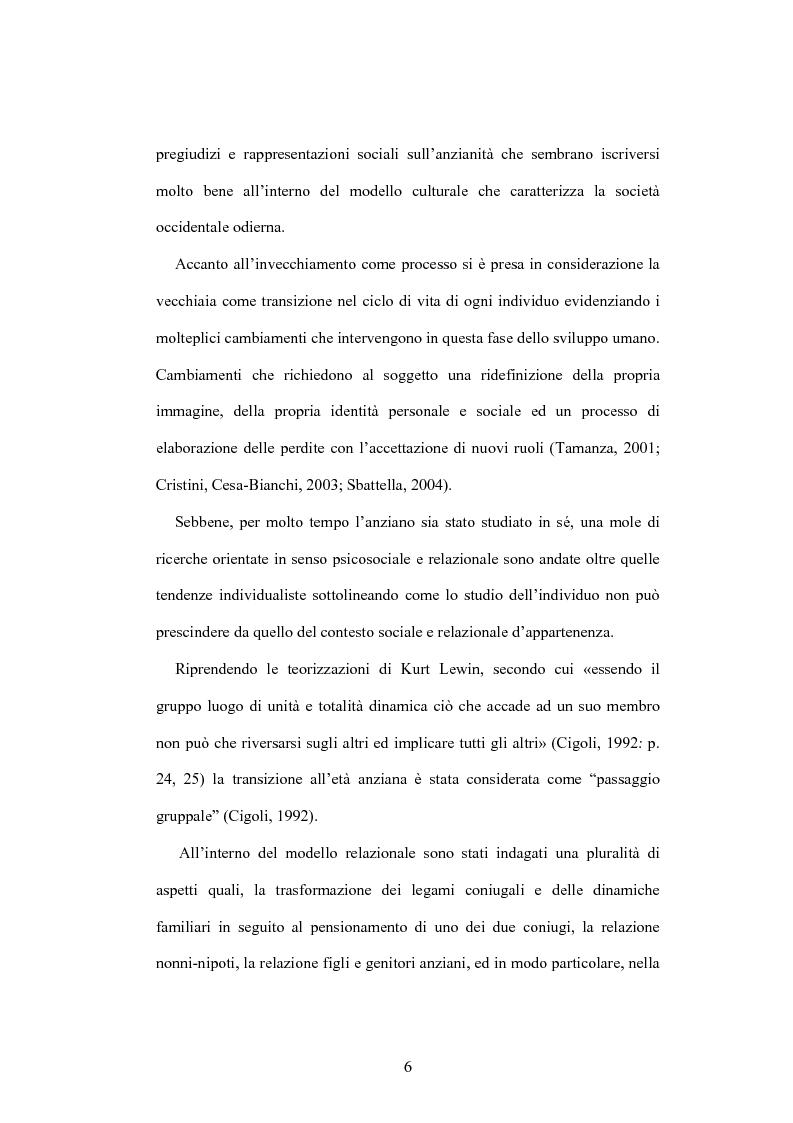 Anteprima della tesi: La psicologia dell'anziano: prospettive interrelazionali, Pagina 2