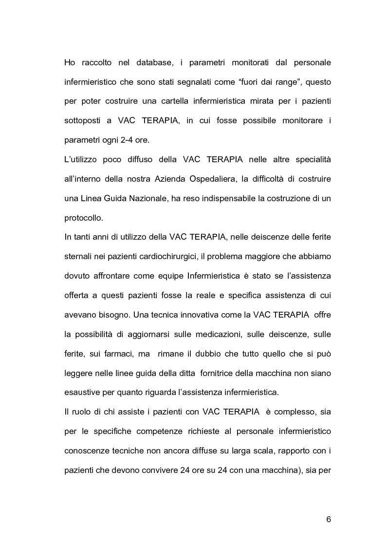 Anteprima della tesi: Assistenza infermieristica nei pazienti cardiochirurgici con deiscenza della ferita chirurgica sternale, portatori di VAC Terapia, Pagina 2