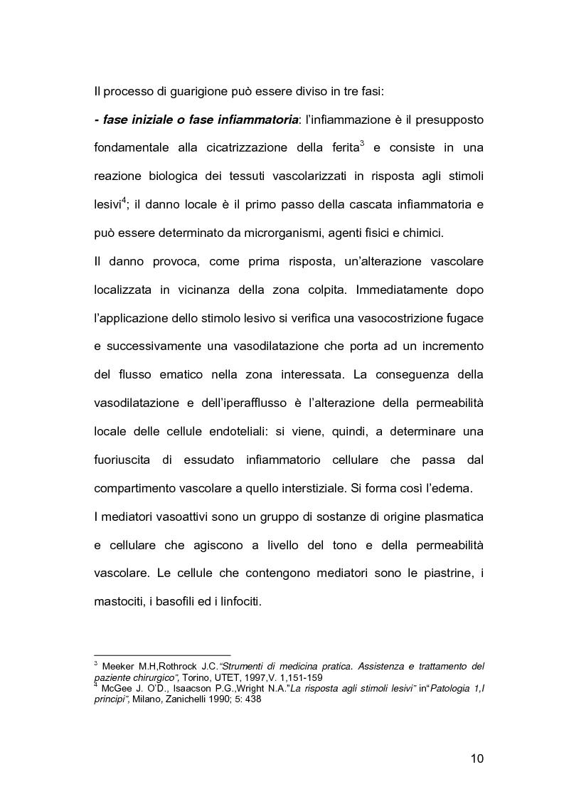 Anteprima della tesi: Assistenza infermieristica nei pazienti cardiochirurgici con deiscenza della ferita chirurgica sternale, portatori di VAC Terapia, Pagina 6