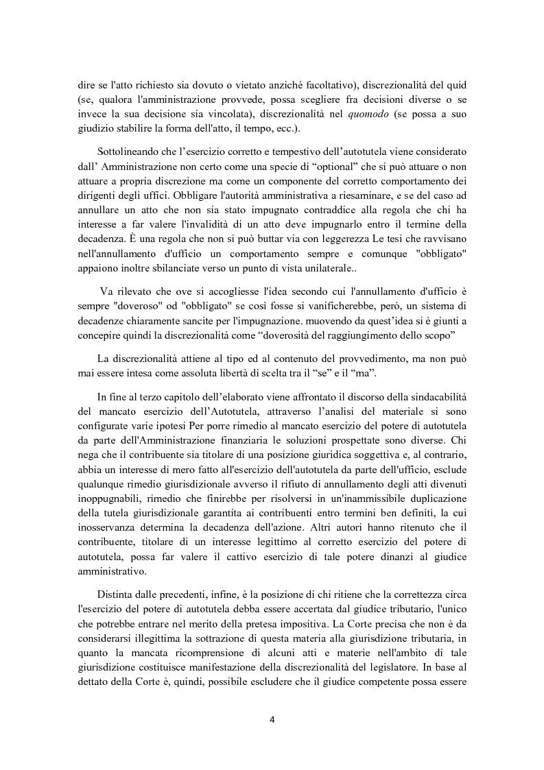 Anteprima della tesi: L'autotutela in diritto tributario, Pagina 3