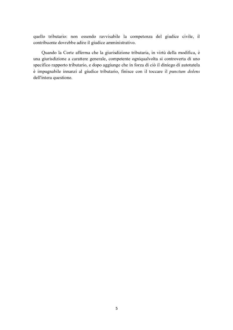 Anteprima della tesi: L'autotutela in diritto tributario, Pagina 4