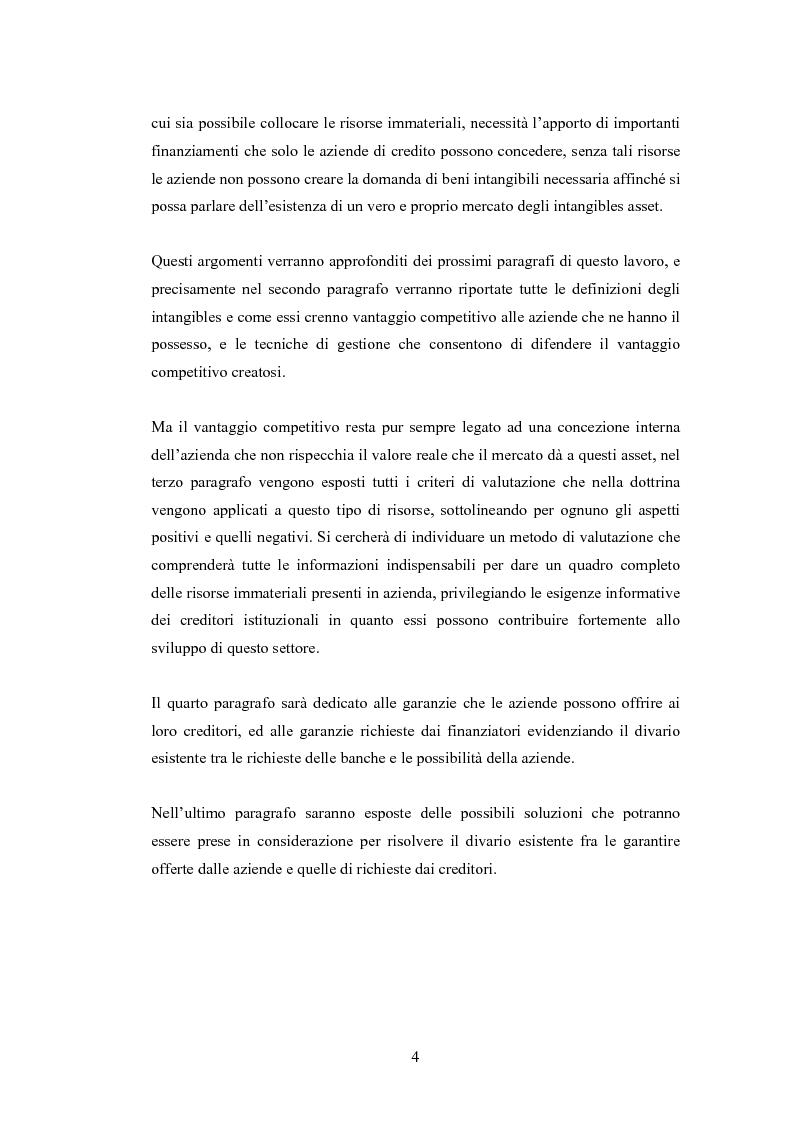 Anteprima della tesi: Le risorse intangibili: aspetti strategici e di valutazione, Pagina 3