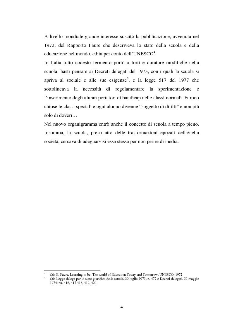 Anteprima della tesi: L'importanza del tirocinio nella scuola d'oggi, Pagina 4