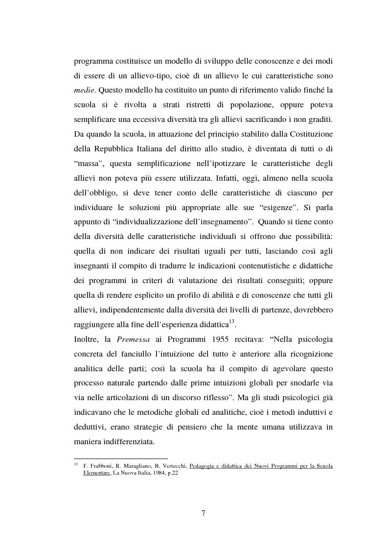 Anteprima della tesi: L'importanza del tirocinio nella scuola d'oggi, Pagina 7