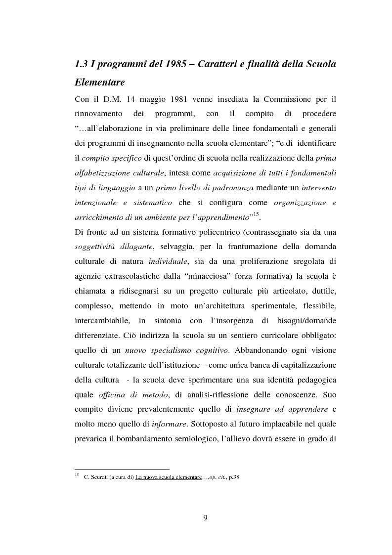 Anteprima della tesi: L'importanza del tirocinio nella scuola d'oggi, Pagina 9