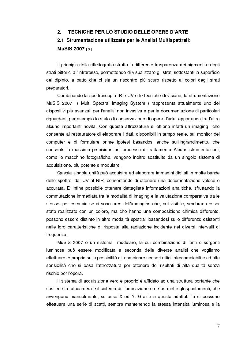 Anteprima della tesi: Indagini multispettrali e di fluorescenza Xrf per la caratterizzazione dei materiali pittorici su un dipinto di Massimo d'Azeglio, Pagina 4