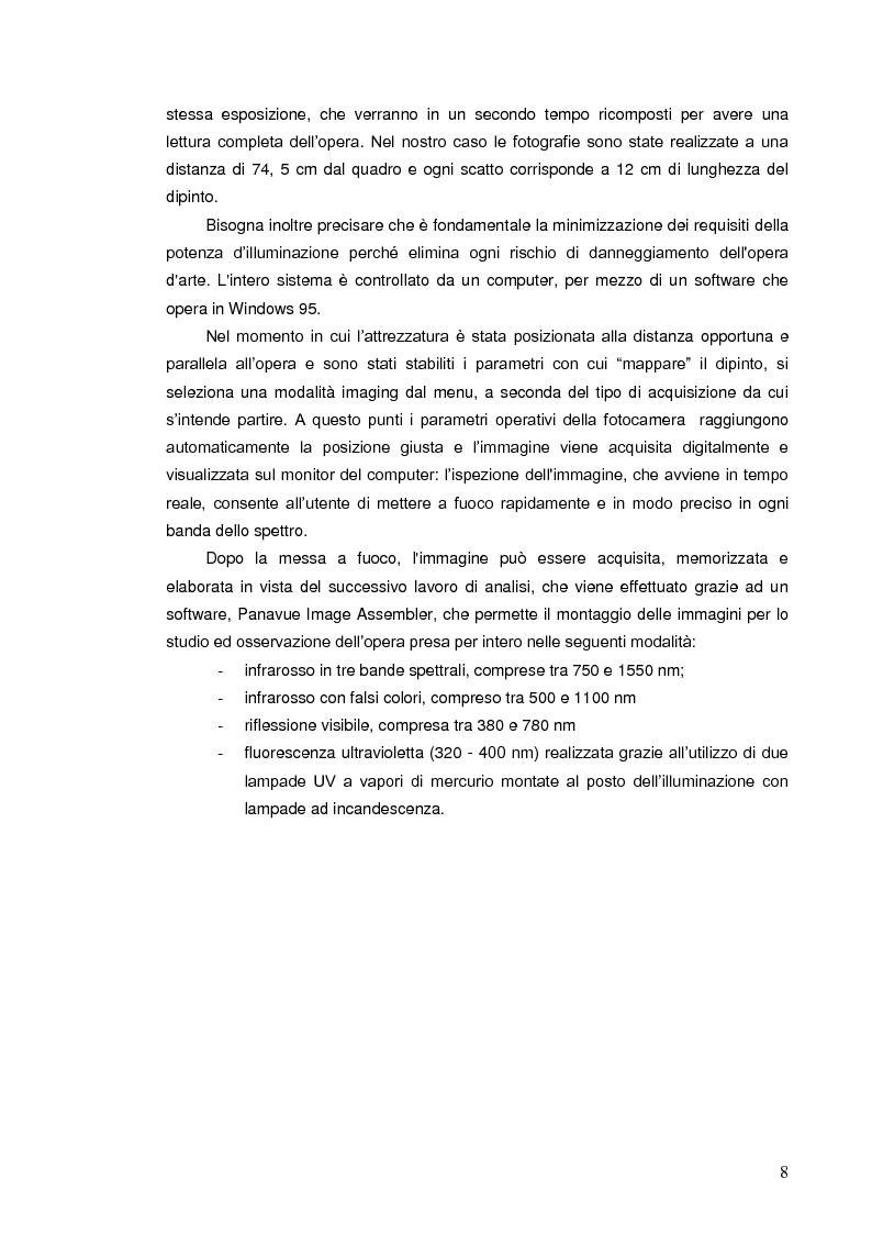 Anteprima della tesi: Indagini multispettrali e di fluorescenza Xrf per la caratterizzazione dei materiali pittorici su un dipinto di Massimo d'Azeglio, Pagina 5