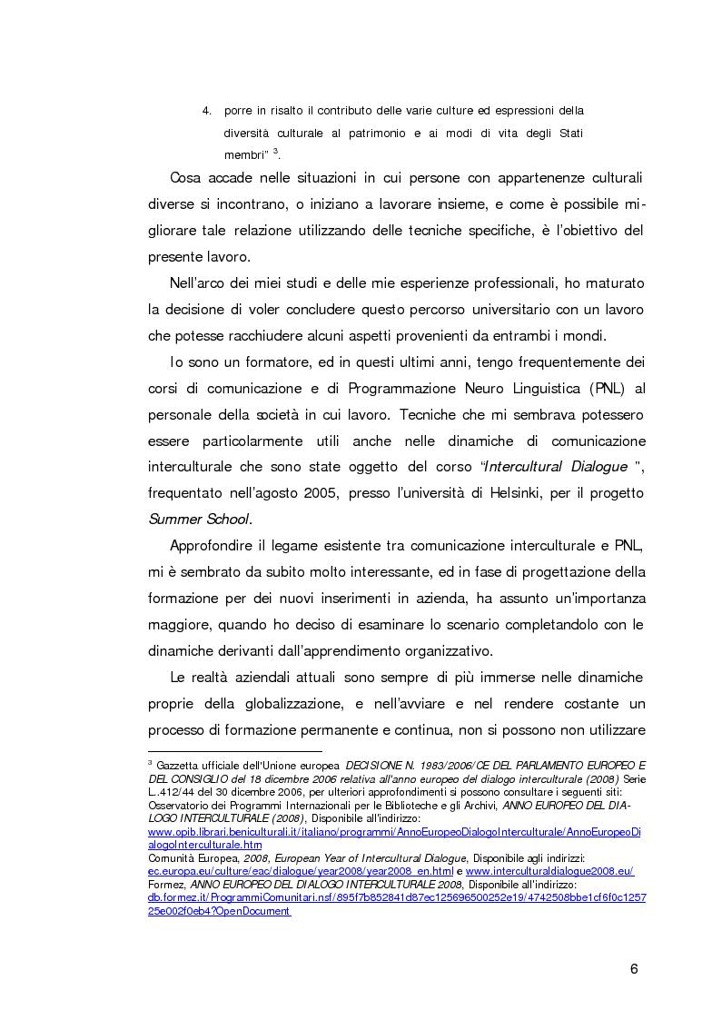 Anteprima della tesi: L'apprendimento organizzativo nei contesti interculturali. La funzione mediatrice della Programmazione Neuro Linguistica, Pagina 2