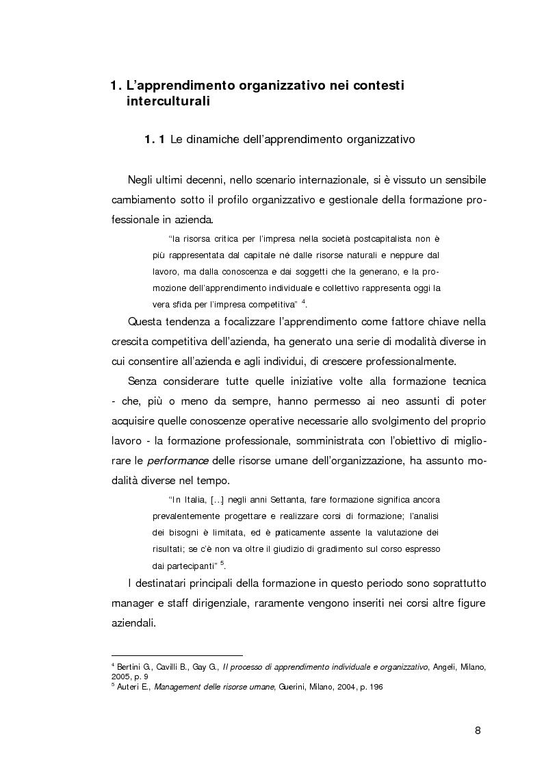 Anteprima della tesi: L'apprendimento organizzativo nei contesti interculturali. La funzione mediatrice della Programmazione Neuro Linguistica, Pagina 4