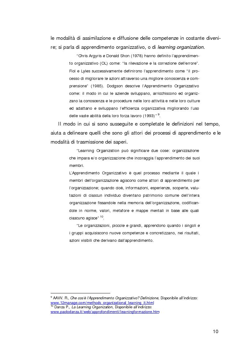 Anteprima della tesi: L'apprendimento organizzativo nei contesti interculturali. La funzione mediatrice della Programmazione Neuro Linguistica, Pagina 6