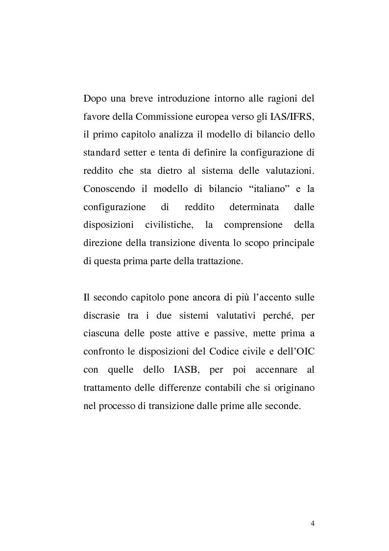 Anteprima della tesi: First-time adoption of the IAS/IFRS accounting standard e regime di disponibilità delle riserve di patrimonio netto, Pagina 2