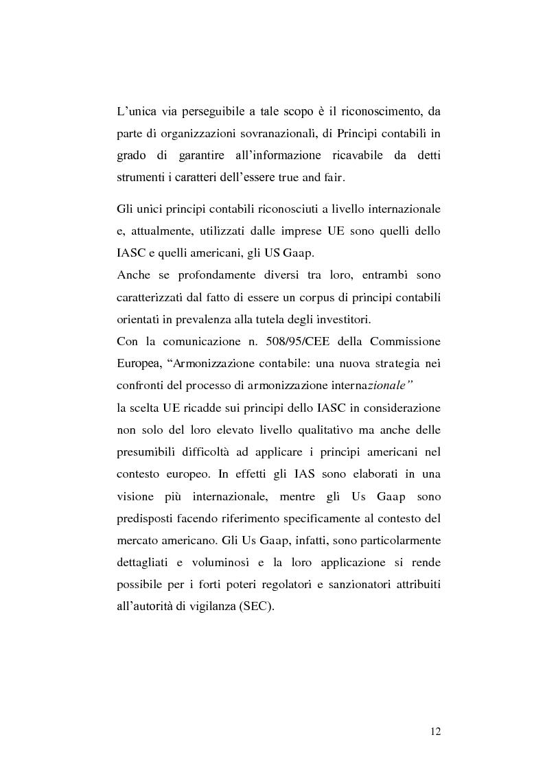 Anteprima della tesi: First-time adoption of the IAS/IFRS accounting standard e regime di disponibilità delle riserve di patrimonio netto, Pagina 5
