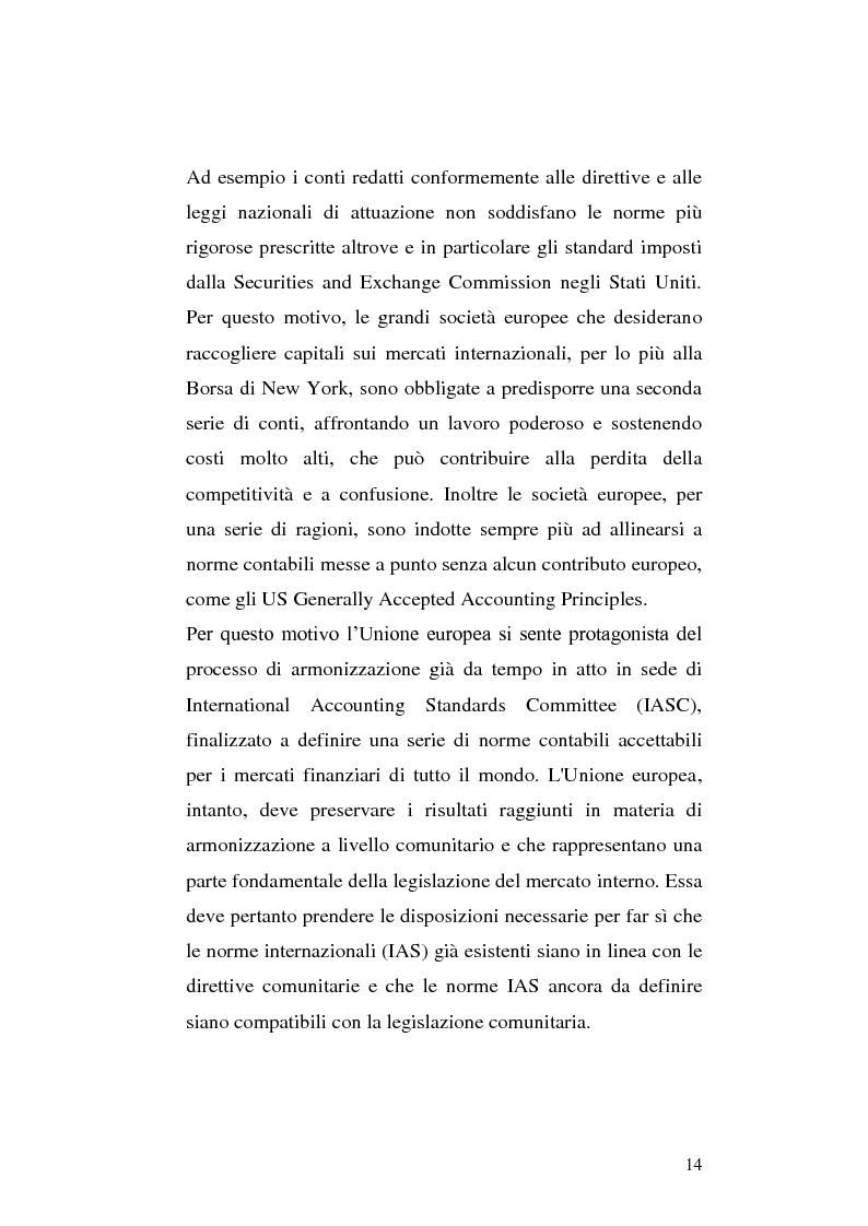 Anteprima della tesi: First-time adoption of the IAS/IFRS accounting standard e regime di disponibilità delle riserve di patrimonio netto, Pagina 7