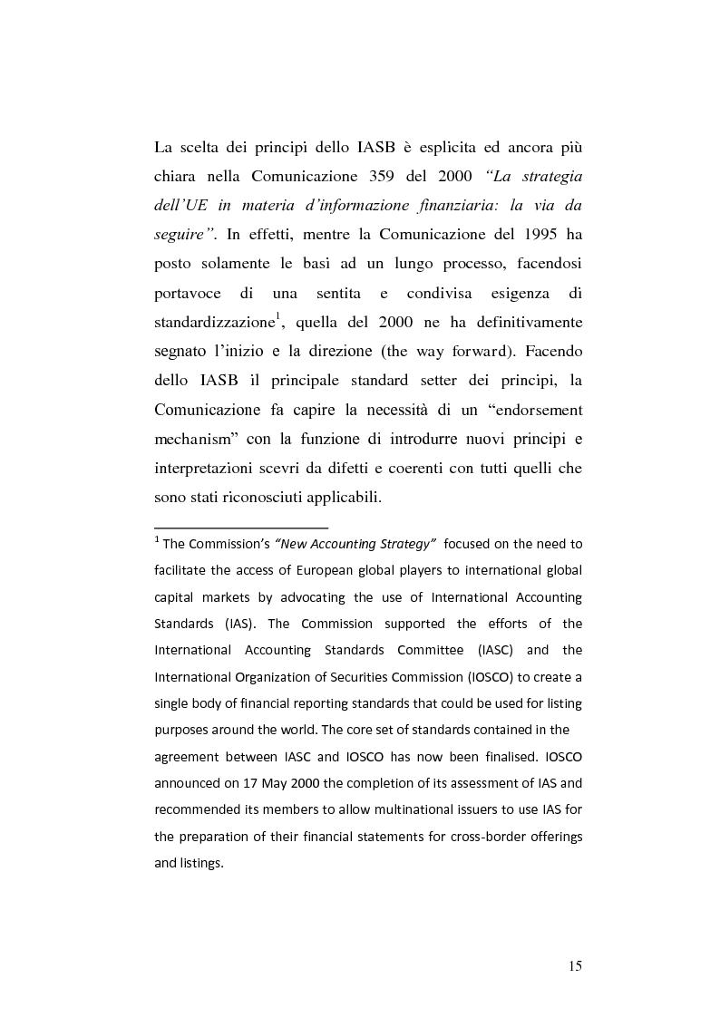Anteprima della tesi: First-time adoption of the IAS/IFRS accounting standard e regime di disponibilità delle riserve di patrimonio netto, Pagina 8