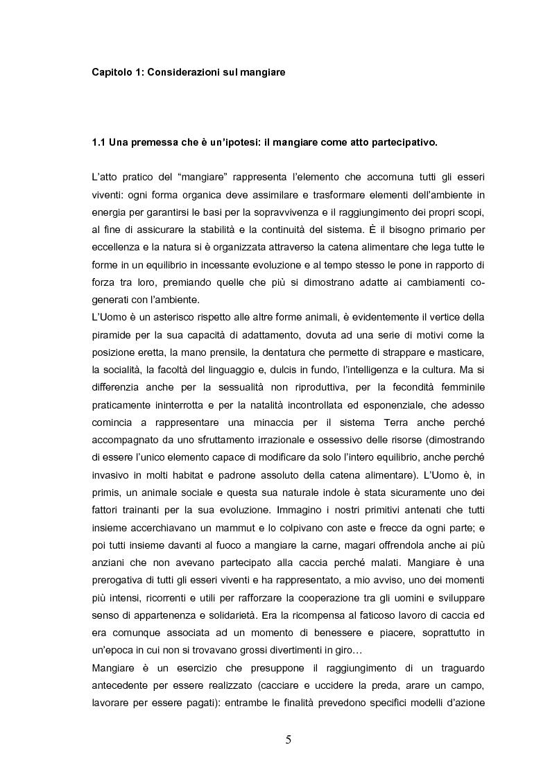 Anteprima della tesi: Indovina chi viene a pranzo. Strategie di riconoscimento della clientela nei ristoranti romani. Un approccio visuale., Pagina 1