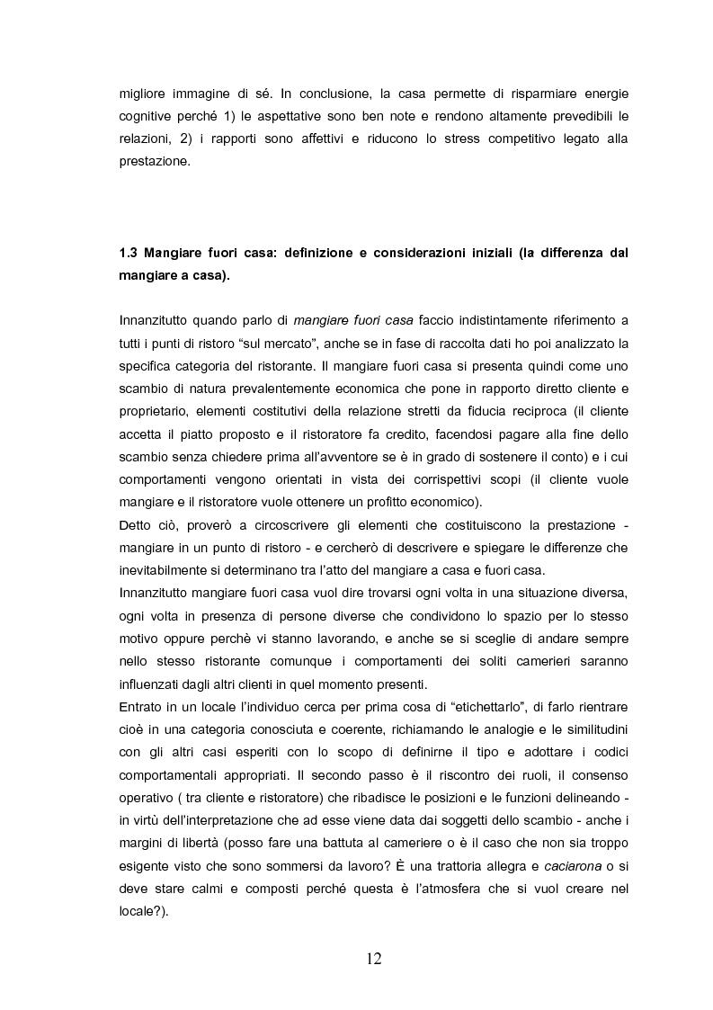 Anteprima della tesi: Indovina chi viene a pranzo. Strategie di riconoscimento della clientela nei ristoranti romani. Un approccio visuale., Pagina 8