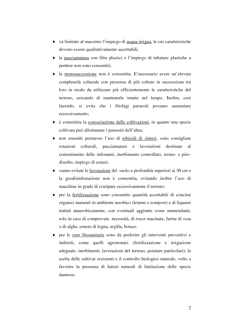 Anteprima della tesi: Prima ipotesi di controllo della qualità ambientale in aziende agribiologiche, Pagina 4
