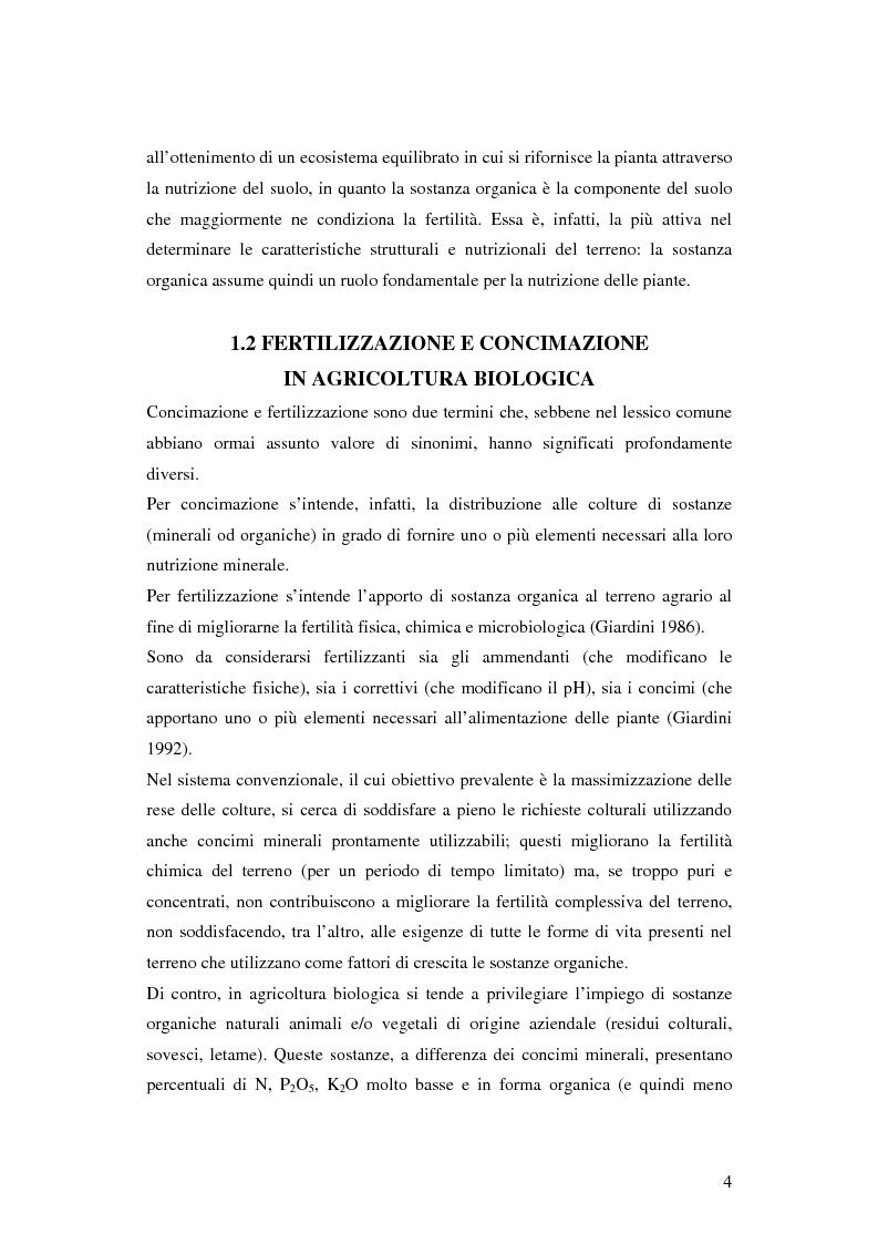 Anteprima della tesi: Prima ipotesi di controllo della qualità ambientale in aziende agribiologiche, Pagina 6