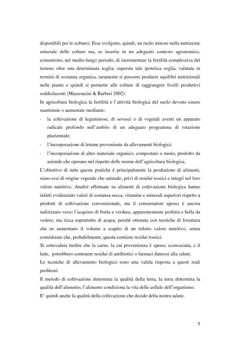 Anteprima della tesi: Prima ipotesi di controllo della qualità ambientale in aziende agribiologiche, Pagina 7