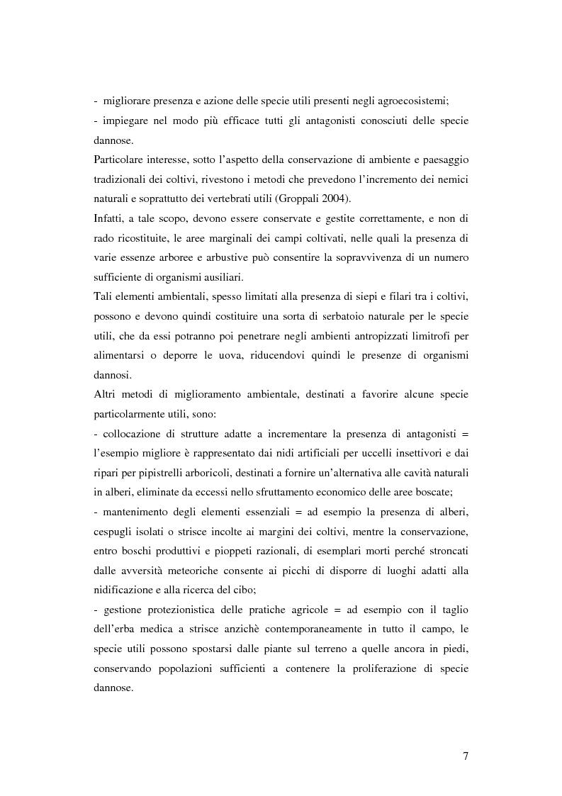 Anteprima della tesi: Prima ipotesi di controllo della qualità ambientale in aziende agribiologiche, Pagina 9