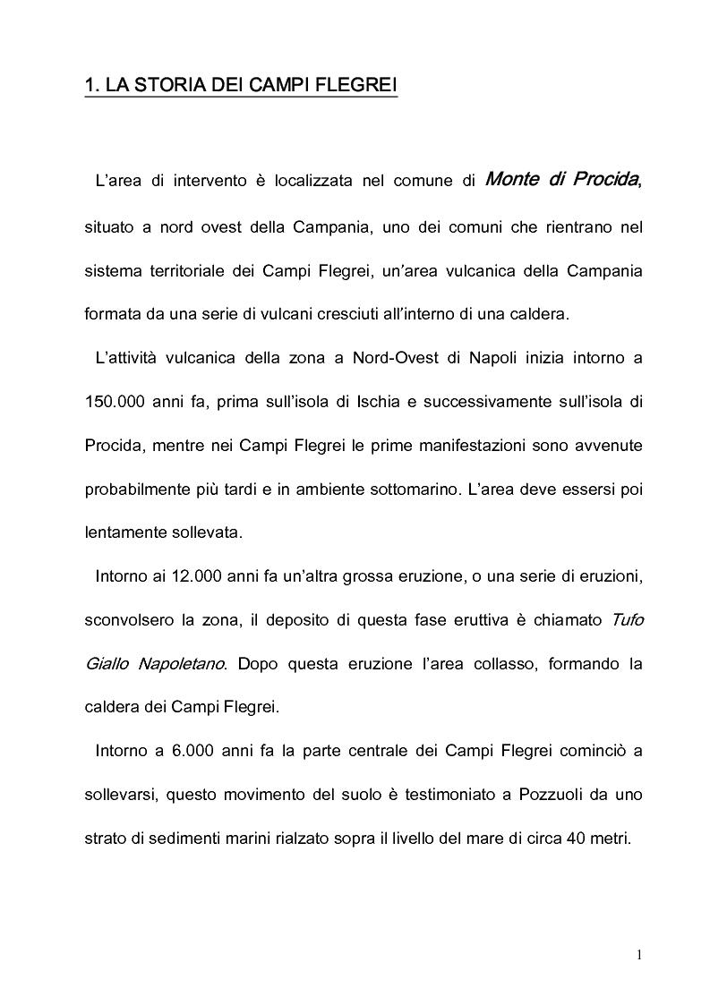 Anteprima della tesi: Progetto e riqualificazione in Via Panoramica Monte di Procida, Pagina 1