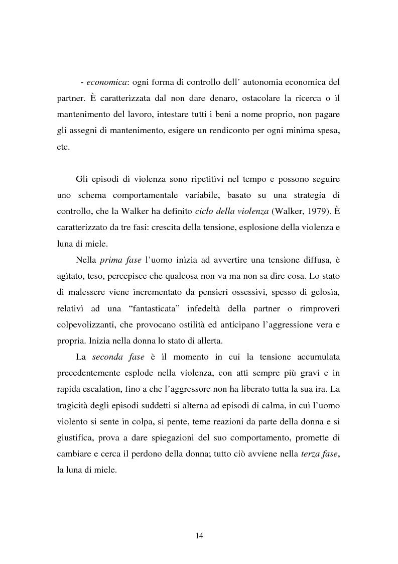 Anteprima della tesi: Il partner violento. Approcci teorici alla violenza domestica sulla donna e programmi d'intervento per i maltrattatori, Pagina 10