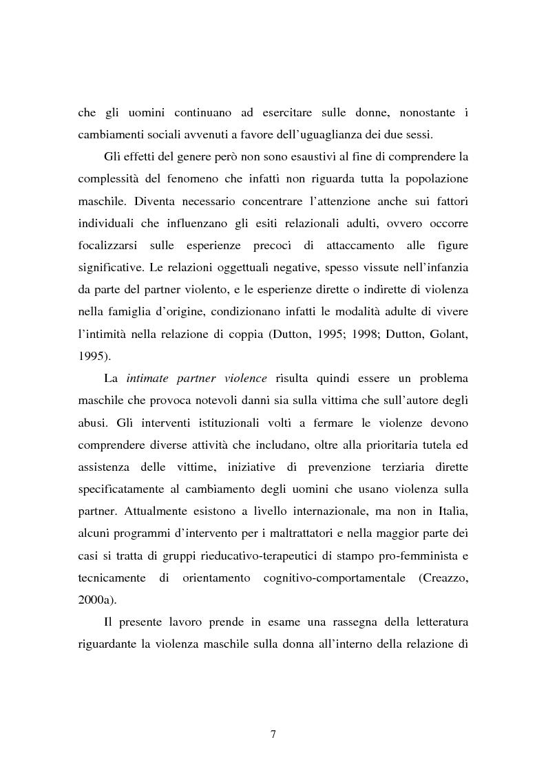 Anteprima della tesi: Il partner violento. Approcci teorici alla violenza domestica sulla donna e programmi d'intervento per i maltrattatori, Pagina 3