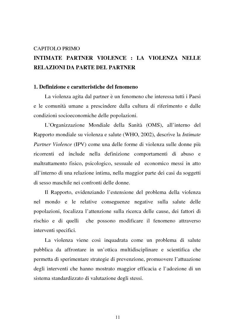 Anteprima della tesi: Il partner violento. Approcci teorici alla violenza domestica sulla donna e programmi d'intervento per i maltrattatori, Pagina 7