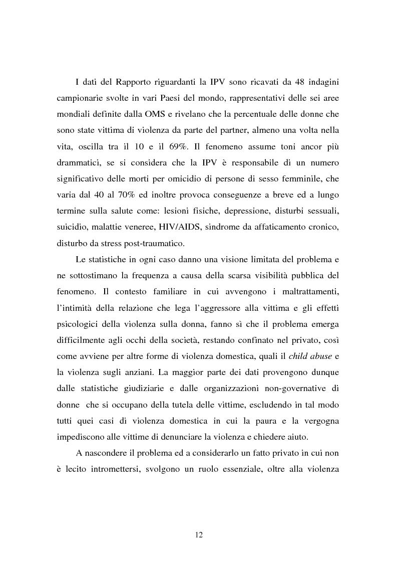 Anteprima della tesi: Il partner violento. Approcci teorici alla violenza domestica sulla donna e programmi d'intervento per i maltrattatori, Pagina 8