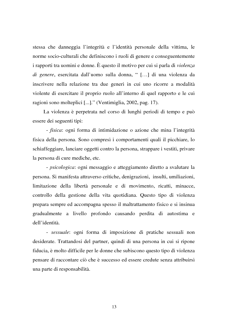 Anteprima della tesi: Il partner violento. Approcci teorici alla violenza domestica sulla donna e programmi d'intervento per i maltrattatori, Pagina 9