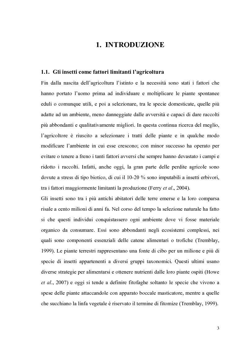 Anteprima della tesi: Profili di espressione di geni di difesa in genotipi di pomodoro, Pagina 1