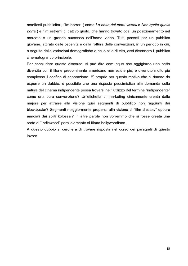 Anteprima della tesi: Le strategie di marketing nella promozione del cinema indipendente americano in Italia. I casi di The Blair Witch Project, Little Miss Sunshine e Paranoid Park, Pagina 10