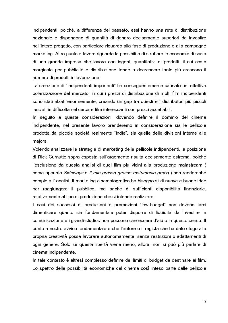 Anteprima della tesi: Le strategie di marketing nella promozione del cinema indipendente americano in Italia. I casi di The Blair Witch Project, Little Miss Sunshine e Paranoid Park, Pagina 8