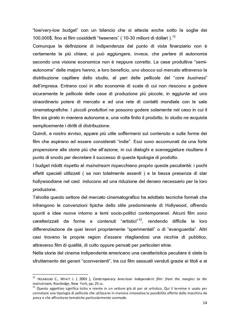 Anteprima della tesi: Le strategie di marketing nella promozione del cinema indipendente americano in Italia. I casi di The Blair Witch Project, Little Miss Sunshine e Paranoid Park, Pagina 9