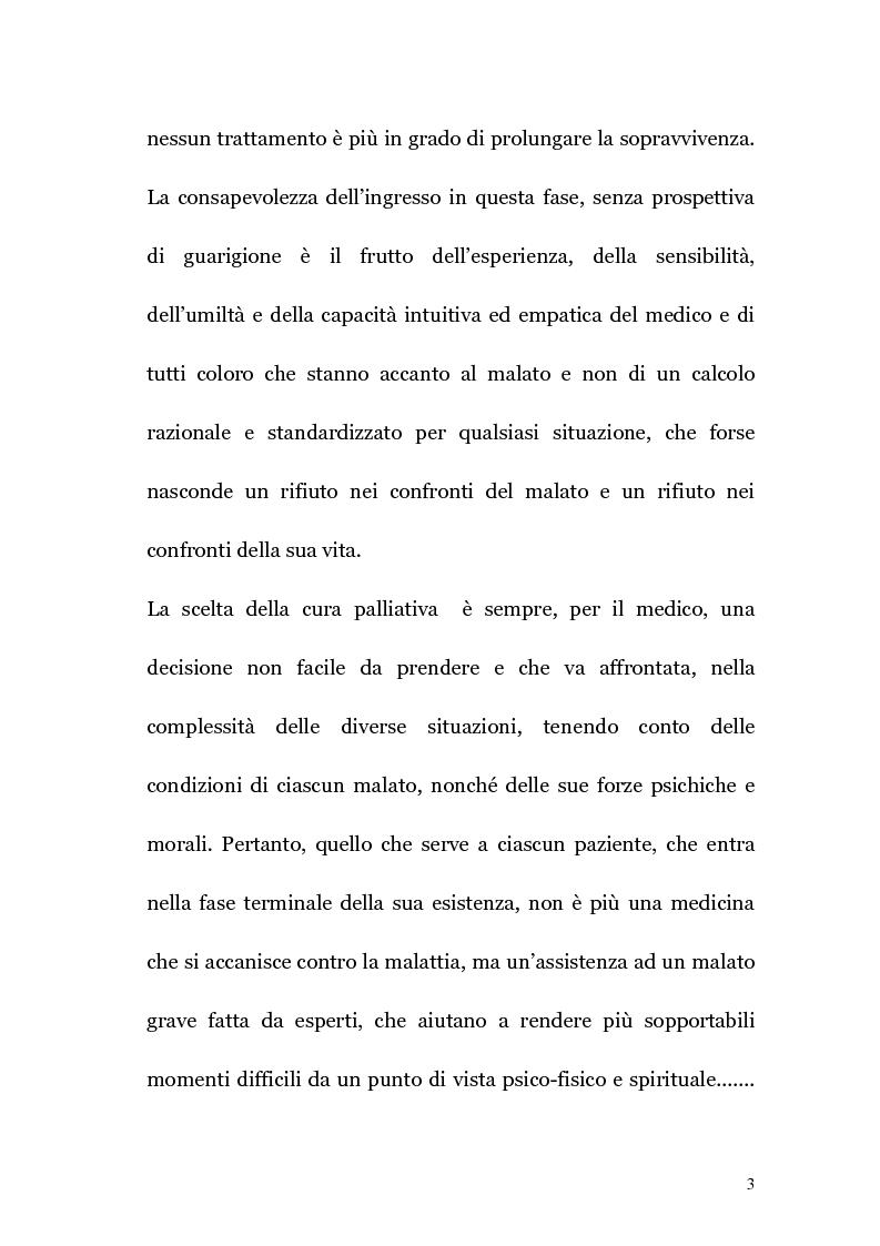 Anteprima della tesi: Ruolo infermieristico nelle cure palliative in oncologia, Pagina 2