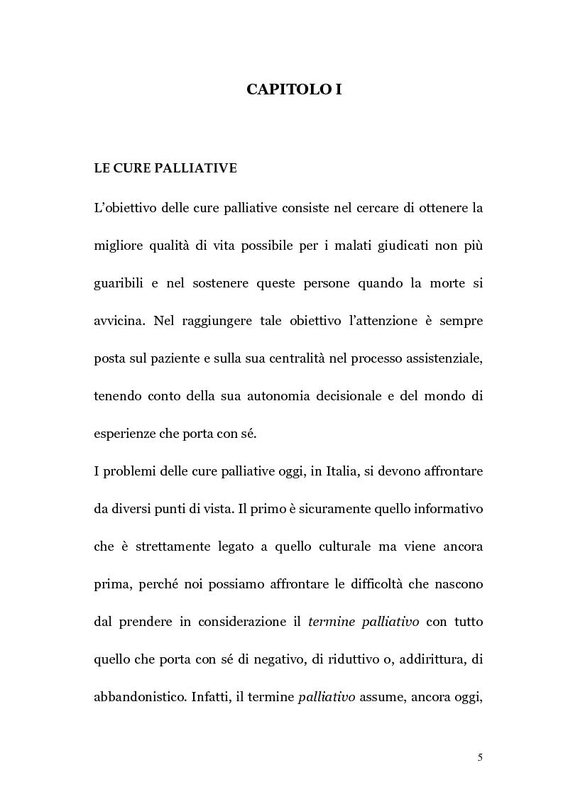 Anteprima della tesi: Ruolo infermieristico nelle cure palliative in oncologia, Pagina 4