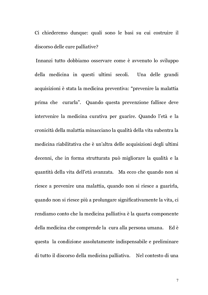 Anteprima della tesi: Ruolo infermieristico nelle cure palliative in oncologia, Pagina 6