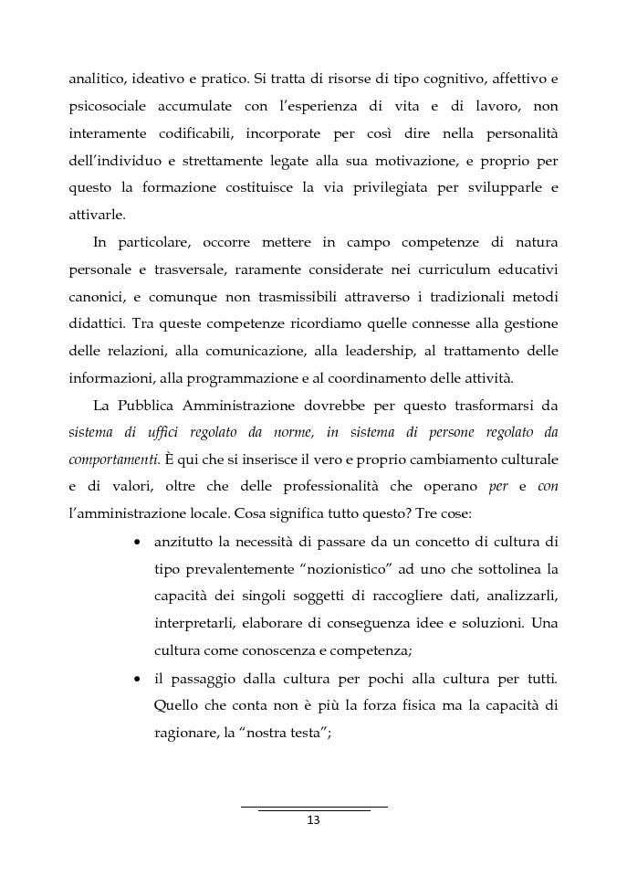 Anteprima della tesi: Il Business Game come strumento innovativo per la formazione delle persone nella Pubblica Amministrazione - Sviluppo di un'applicazione attraverso la Balanced Scorecard, Pagina 11