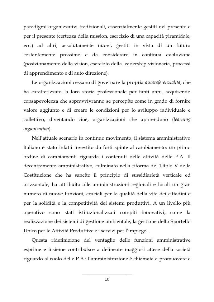 Anteprima della tesi: Il Business Game come strumento innovativo per la formazione delle persone nella Pubblica Amministrazione - Sviluppo di un'applicazione attraverso la Balanced Scorecard, Pagina 8