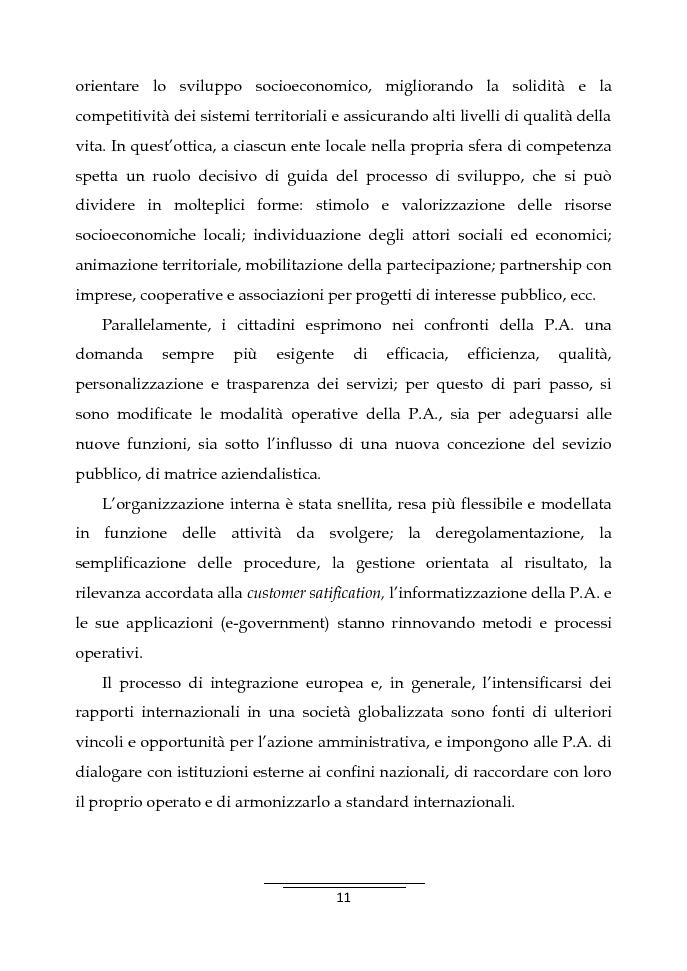 Anteprima della tesi: Il Business Game come strumento innovativo per la formazione delle persone nella Pubblica Amministrazione - Sviluppo di un'applicazione attraverso la Balanced Scorecard, Pagina 9
