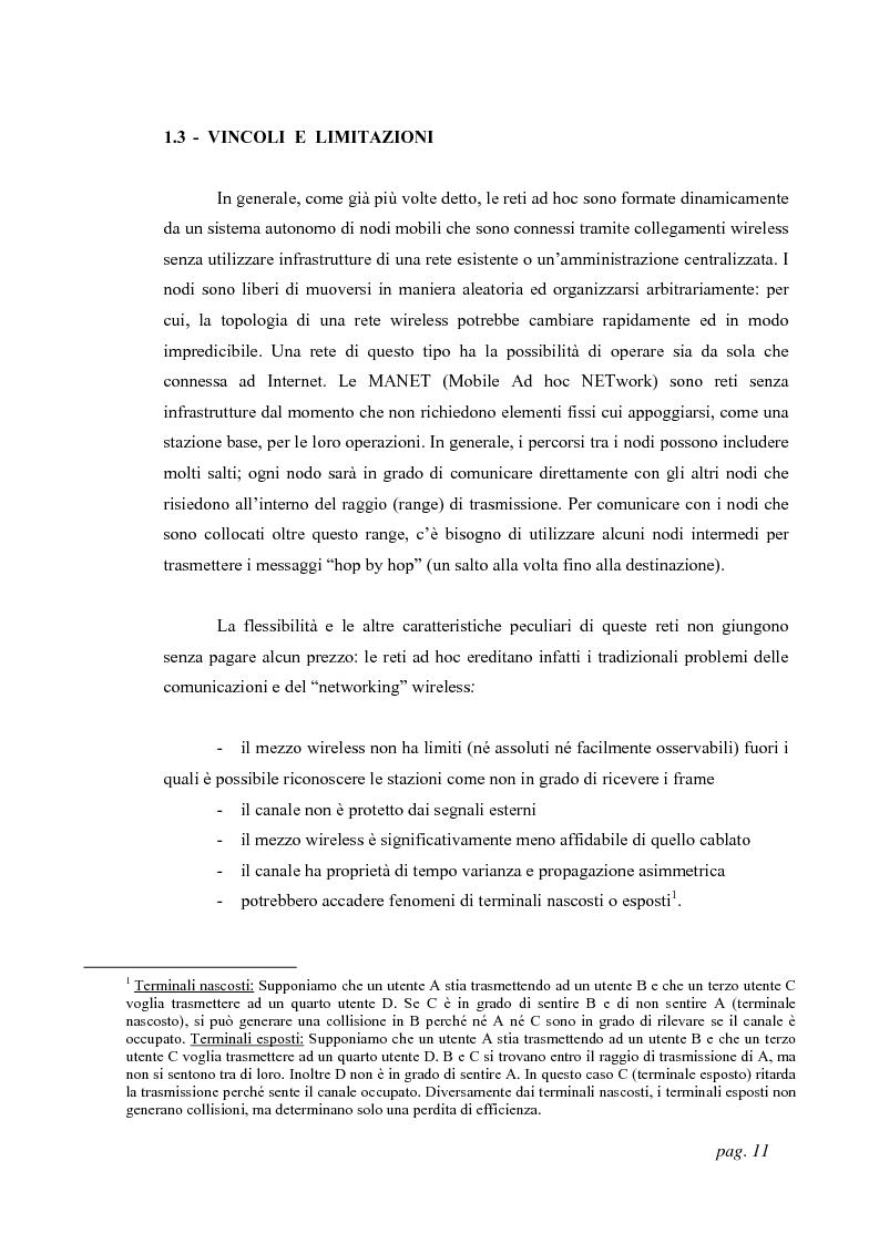 Anteprima della tesi: Tecniche di localizzazione per reti ''ad hoc'', Pagina 8