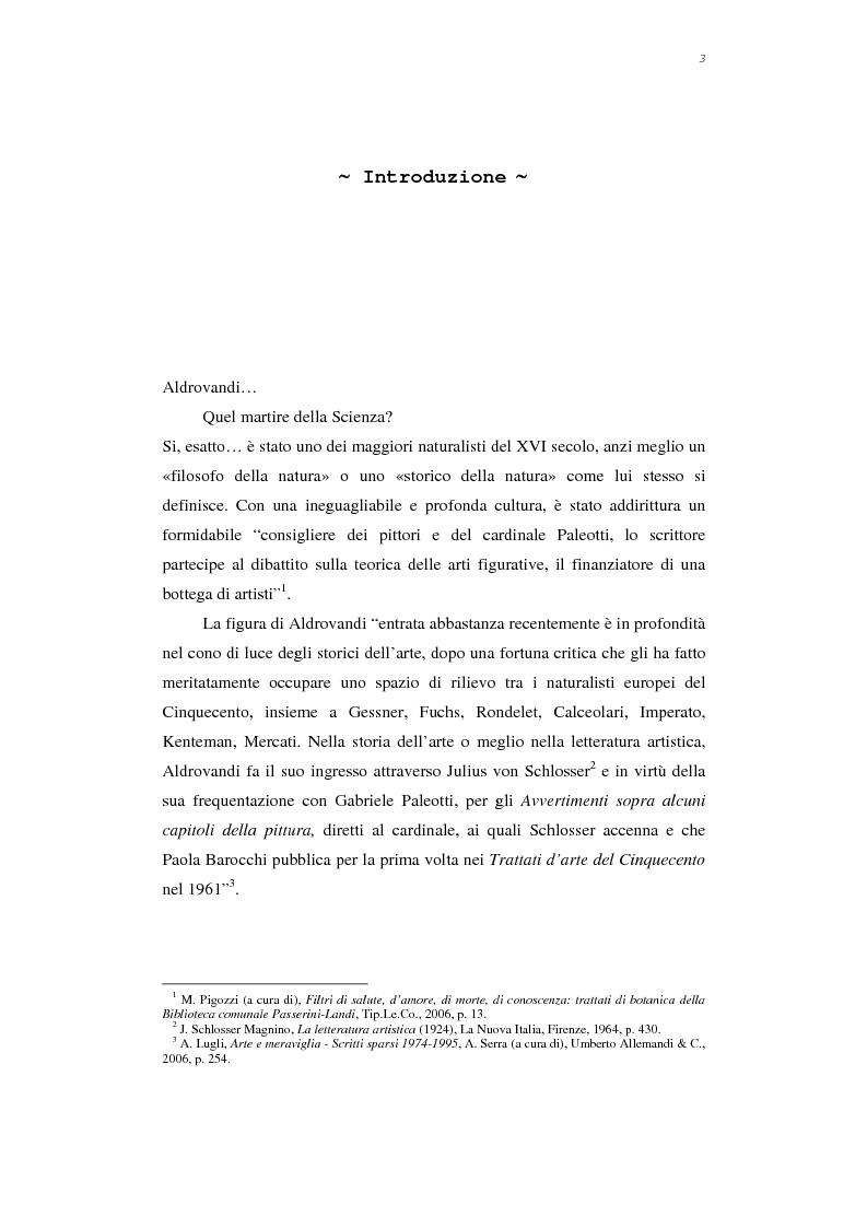 I Ligozzi e Aldrovandi - Tesi di Laurea