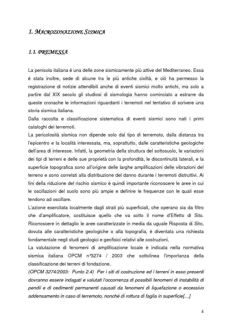 Anteprima della tesi: Confronto tra misure e modelli di amplificazione sismica a Balvano (PZ), Pagina 2