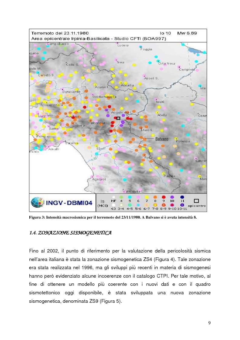 Anteprima della tesi: Confronto tra misure e modelli di amplificazione sismica a Balvano (PZ), Pagina 7
